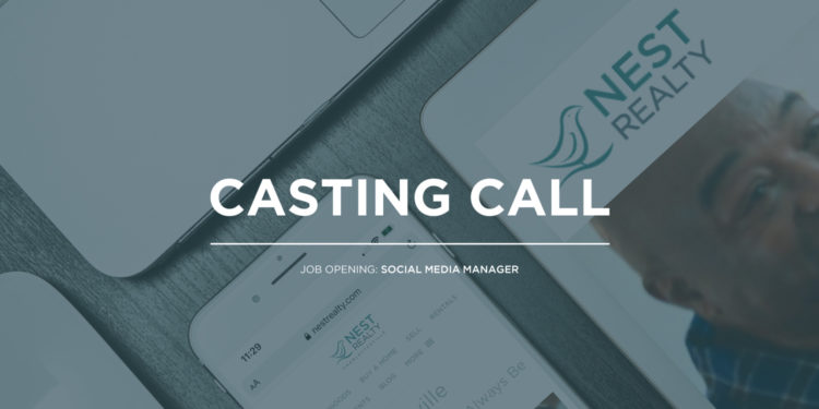 casting call - social media manager