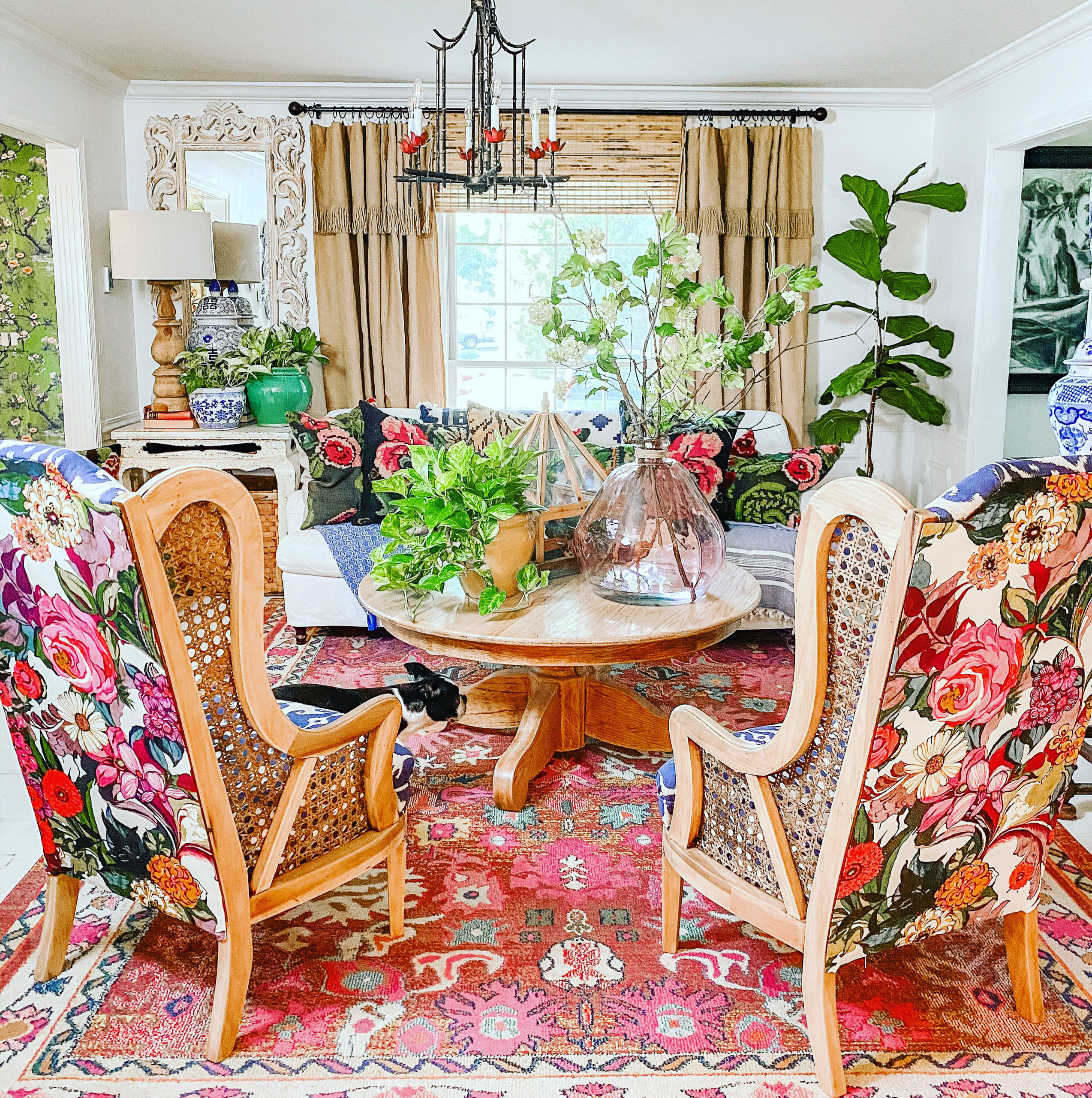 colorful living room nest magazine