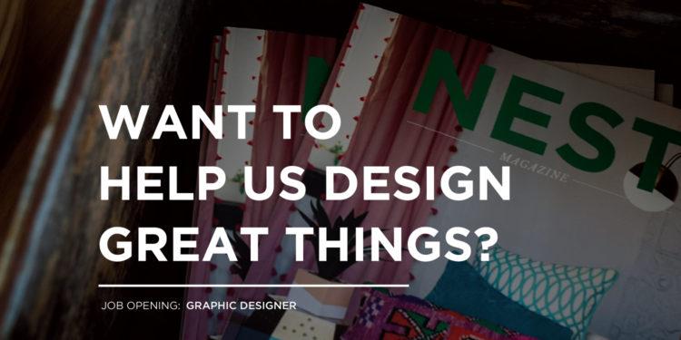 nest hiring graphic designer