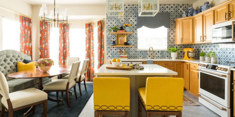 house tour: contrasting colors